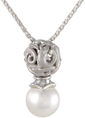 Carrera y  Y 18K 0.30 Ct. Tw. Diamond & White Pearl Necklace