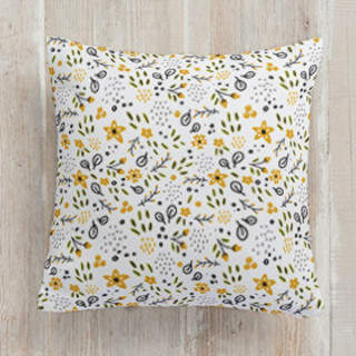 Flower Power Square Pillow