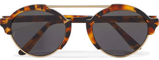 Illesteva - Milan Iii Round-frame Acetate And Gold-tone Sunglasses - Tortoiseshell $300 thestylecure.com