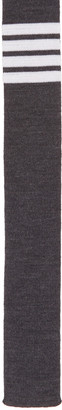 Thom Browne Grey Knit Four Bar Tie $235 thestylecure.com