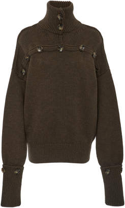 Joseph High Neck Button Sweater