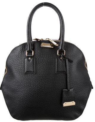 Burberry Burberry Orchard Pebbled Leather Handle Bag