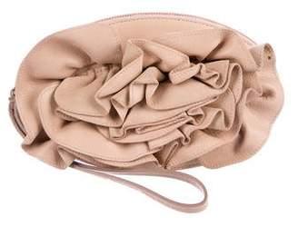 Saint Laurent Leather Petale Zip Pouch