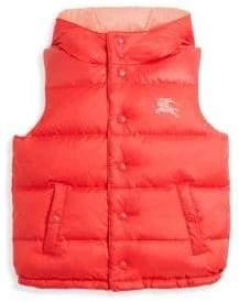 Burberry Little Girl's& Girl's Hooded Puffer Vest