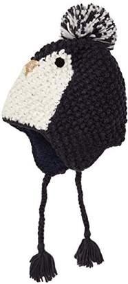 Fat Face Girl's Penguin Trapper Hat,(Manufacturer Size: S)