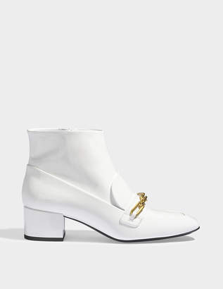 Burberry Chettle patent ankle boots