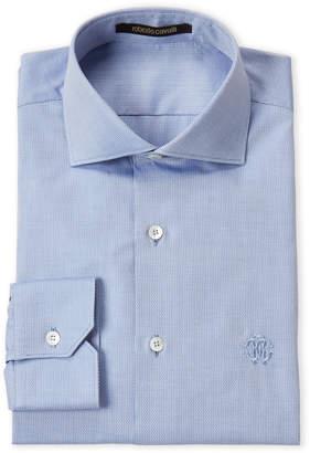 Roberto Cavalli Wavy Print Dress Shirt