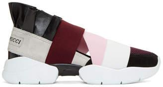 Emilio Pucci Burgundy & Black City Up Sneakers