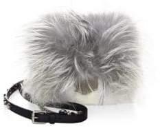 Jimmy Choo Petite Metallic Lockett Mink Fur Crossbody Bag