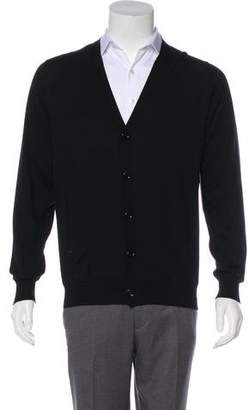 Christian Dior Wool V-Neck Cardigan
