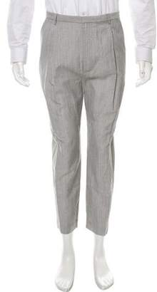 Deveaux Cropped Linen & Wool-Blend Pants w/ Tags