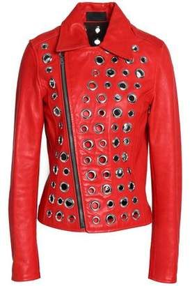 RtA Embellished Leather Jacket