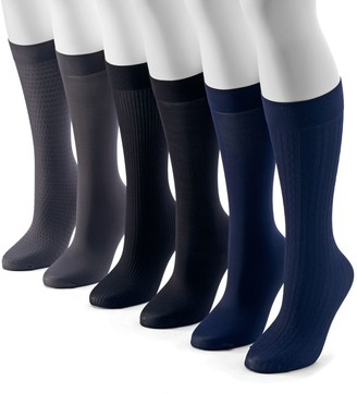 Apt. 9 Women's 6-pk. Assorted Cable Knit Trouser Socks