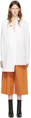 Loewe White Cotton Asymmetric Shirt