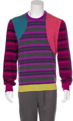 Loewe Wool-Blend Contrast Panel Striped Sweater
