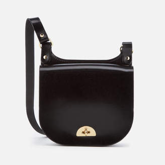At Mybag The Cambridge Satchel Company Women S Small Conductor Bag Black Patent