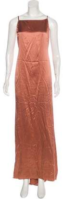 Reformation Silk Sleeveless Maxi Dress