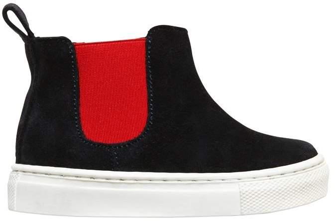 Florens Suede High Top Slip-On Sneakers