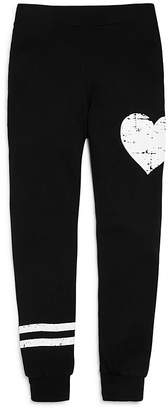 Flowers by Zoe Girls' French Terry Heart Stripe Jogger Pants - Big Kid