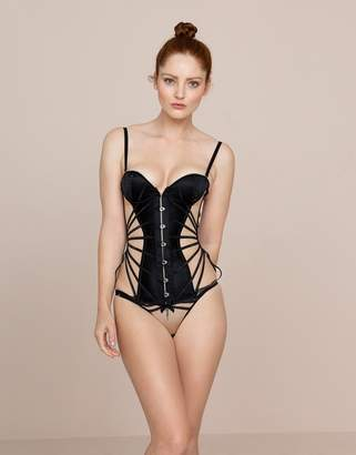 Agent Provocateur Rubi Corset Black and Nude