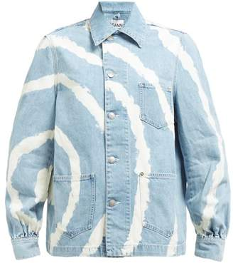 Ganni Blackstone Bleached Denim Jacket - Womens - Denim