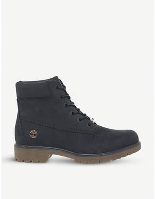 "Timberland Slim Premium 6"" nubuck boots"