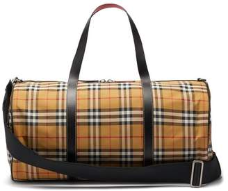 Burberry Kennedy Vintage Check Weekend Bag - Womens - Brown Multi