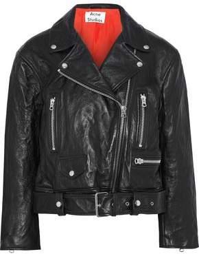 Acne Studios Merlyn Crinkled-leather Biker Jacket