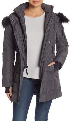 Nautica Faux Fur Hooded Puffer Jacket