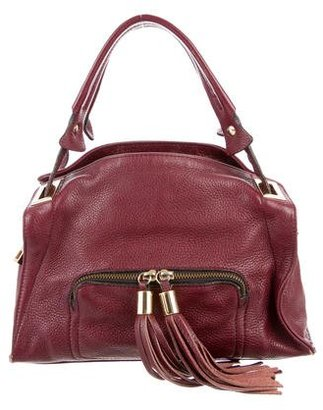 Sandro Tassel-Embellished Pebbled Leather Satchel $160 thestylecure.com