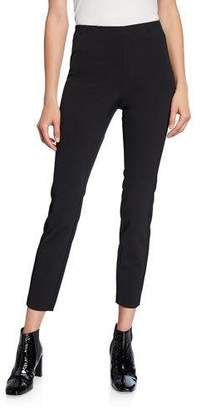 Theory Back-Zip Perry Bi-Stretch Leggings