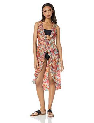 Kenneth Cole Reaction Women's Front Tie Beach Cover Up