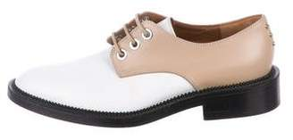 Givenchy Leather Rounded-Toe Oxfords