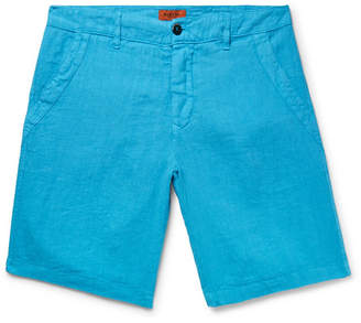 Barena Linen-Blend Shorts - Men - Turquoise