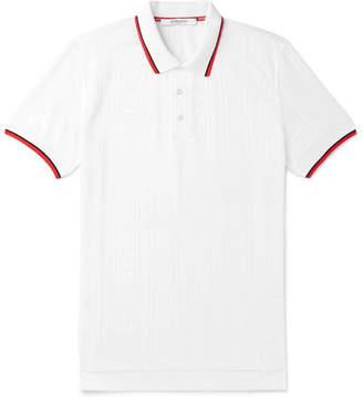 Givenchy Stripe-Trimmed Logo-Jacquard Polo Shirt