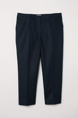 H&M H&M+ Linen-blend Suit Pants - Blue