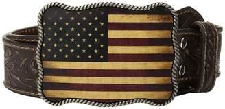 M&F Western Vintage Embossed USA Buckle Belt Men's Belts