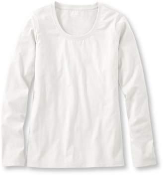 L.L. Bean L.L.Bean Carefree Unshrinkable Shirt, Long-Sleeve Scoopneck