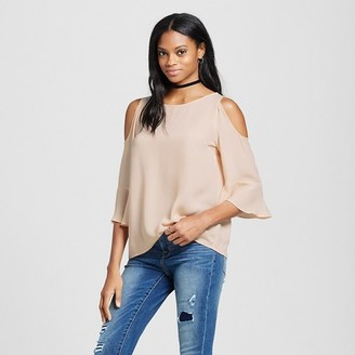 Mossimo Women's Cold Shoulder Woven Top - Mossimo $22.99 thestylecure.com