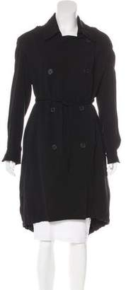 AllSaints Double-Breasted Long Coat