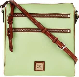 Dooney & Bourke Pebble Leather Triple Zip Crossbody Handbag