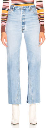 RE/DONE LEVI'S Ultra High Rise Flare in Indigo | FWRD