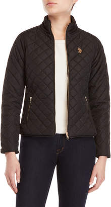 U.S. Polo Assn. Diamond Quilted Moto Jacket