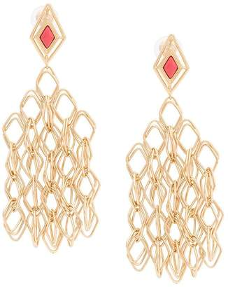 Aurelie Bidermann geometric drop earrings