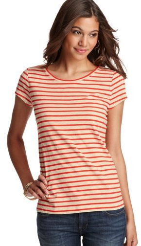 Striped Cotton Structured Tee