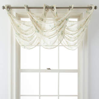 JCPenney JCP HOME HomeTM Arbor Leaf Grommet-Top Sheer Waterfall Valance
