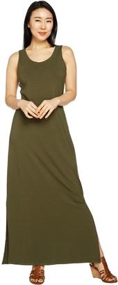 Isaac Mizrahi Live! _Petite Sleeveless Maxi Dress w/ Side Slits