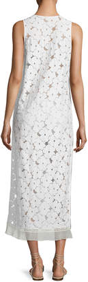 Neiman Marcus Kisuii Orli Lace Maxi Coverup Dress