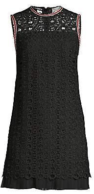 Sandro Women's Franck Guipure Lace Sleeveless Mini Dress