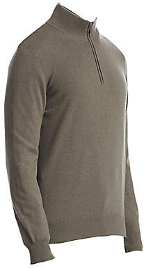 Brunello Cucinelli Men's Cashmere Half-Zip Sweater